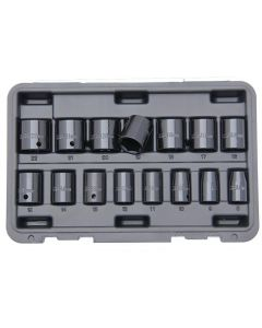 Franklin 15 Piece 3/8in Drive 6 Point Standard Impact Socket Set 8 - 22mm TA8015