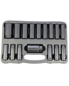 Franklin 16 Piece 1/2in Drive 12 Point Deep Impact Socket Set 10 - 32mm TA803