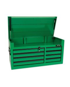 Toptul Heavy Duty 8 Drawer Top Box Tool Chest Work Station in Green TBAA0801