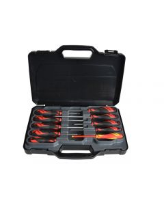 Teng Tools 10 Piece Mega Drive Screwdriver Set Slotted,Phillips,Pozi MD910N