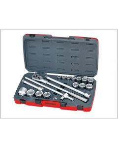 "Teng Tools 18 Piece 3/4""dr Socket Set Supplied in a snap lock case T3418-6"