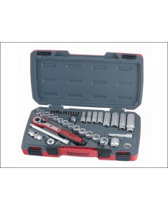 """Teng Tools 39 Piece 3/8""""dr Socket Set Supplied in a snap lock case T3839"""