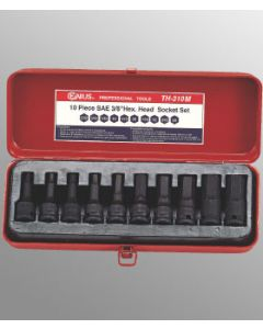 "Genius 10 Piece 3/8""drive Metric Impact Hex Driver Set TH-310M"