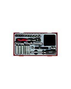 """Teng Tools 35 PIECE 1/4"""" DRIVE SOCKET SET TT1435"""