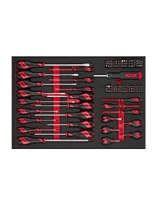 Teng Tools 122 Piece Screwdriver & Bit Set in a EVA Drawer Liner TTEMD122N