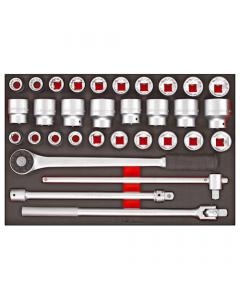 """Teng Tools 32 Piece 3/4"""" drive EVA Tool Control System Socket Set TTESK32"""