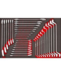 Teng Tools 37 Piece Metric Spanner Set EVA Tool Control System TTESP37