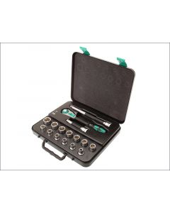Wera Zyklop Starter Socket Set of 16 Metric 1/2in Drive WER003454