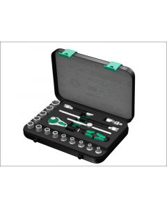 Wera Zyklop SA1 Socket Set of 18 Metric 1/4in Drive WER003532