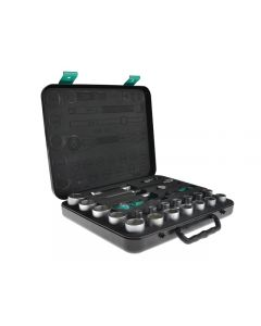 Wera Zyklop Socket Set of 23 Imperial 1/2in Drive WER003646