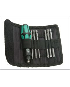 Wera Kompakt 40 Screwdriver Bit Holding Kit of 7 Pouch WER059298