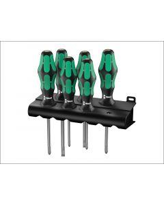Wera Kraftform 334/6 Screwdriver Set of 6 4 x SL, 2 x PH WER105650