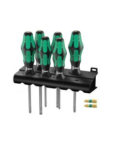 Wera Kraftform Screwdriver Set 6 Piece + Bonus 2 x PZ2 WER105656AV