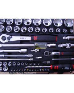 Wurth Zebra 59 Piece 1/4 & 1/2 drive Socket & Accessory Set 096509059