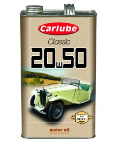 Carlube Classic 20W-50 Classic Oil 4.55 Litre Classic Car Engine Oil XAE250