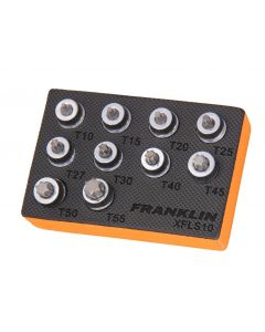 Franklin 10 Piece 3/8in Drive Low Profile Torx Socket Bit Set T10 - T55 XFLS10