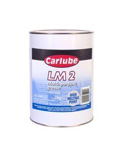Carlube LM2 Lithium Multi Purpose Grease 3kg XMG003