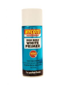 Hycote Bodyshop Hi-Build White Primer Trade Pack 400ml Aerosol x 12 XUK424
