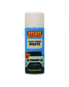 Hycote White Plastic Primer Trade Pack 400ml Aerosol x 12 XUK610